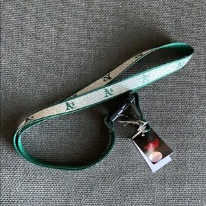 New! Oakland A's keychain & lanyard